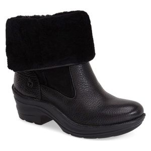 Bionica Rumer Leather Shearling Foldover Boots 9
